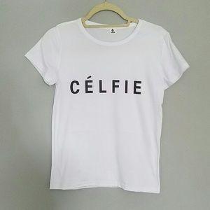 Tops - 'Célfie' tee shirt
